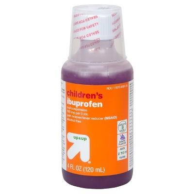 Children's Ibuprofen (NSAID)Oral Suspension Pain Reliever & Fever Reducer Liquid - (Compare to Children's Motrin)- Grape - 4 fl oz - Up&Up™