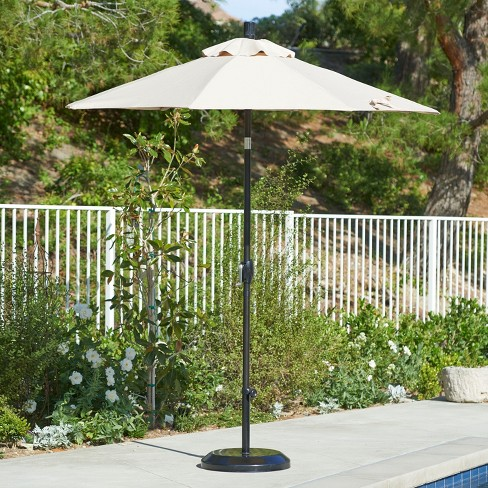 7 5 Aluminum Collar Tilt Crank Patio Umbrella California