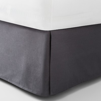 Dark Gray Solid Bed Skirt (California King)- Made By Design™