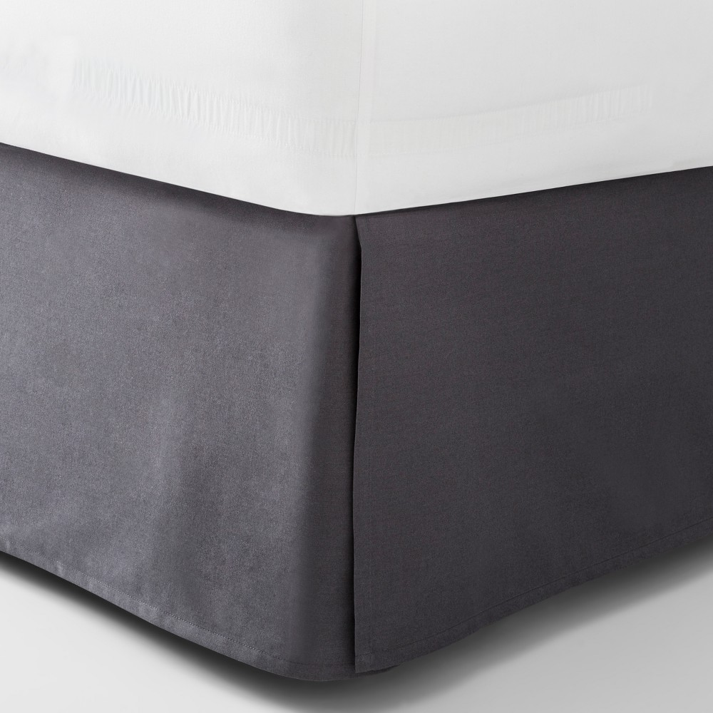 Image of Dark Gray Solid Bed Skirt (Full) - Made By Design