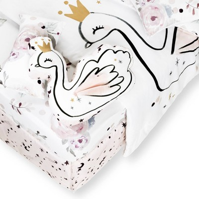 DreamIt 6-Piece Baby Bedding Floral - White and Pink - South Shore