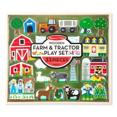 Melissa & Doug Wooden Farm & Tractor Play Set (33pc)
