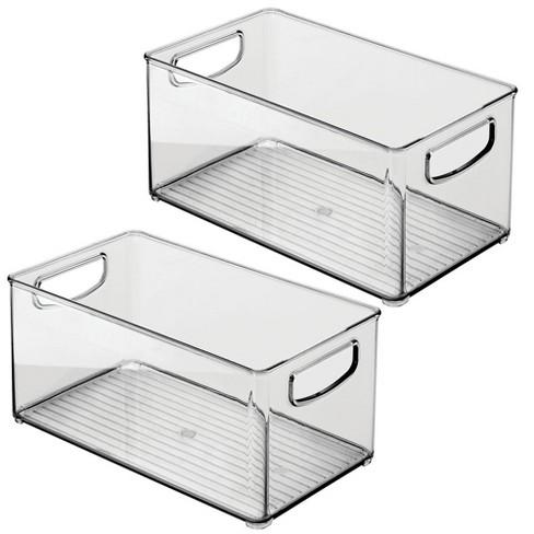 mDesign Plastic Stackable Kitchen Food Storage Bin, Handles - image 1 of 4