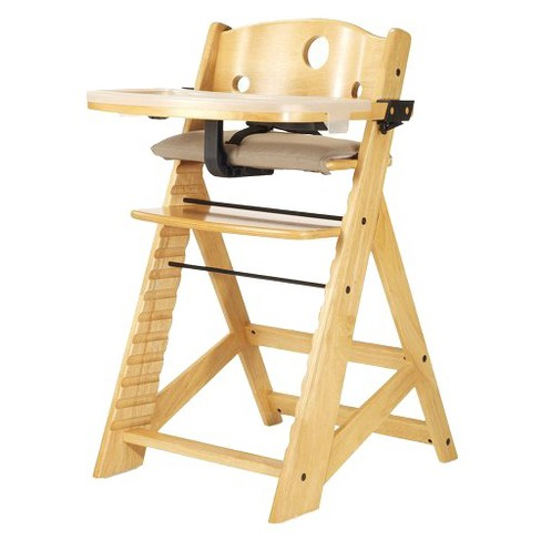Keekaroo Height Right High Chair With Tray Natural