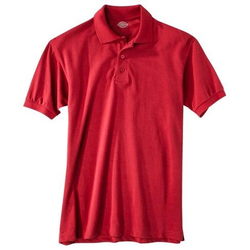 Dickies Men's Pique Uniform Polo Shirt - Red 4XL