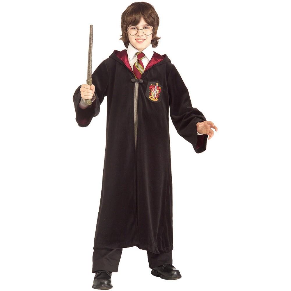 Harry Potter Kids' Gryffindor Premium Robe Halloween Costume L, Kids Unisex, Black