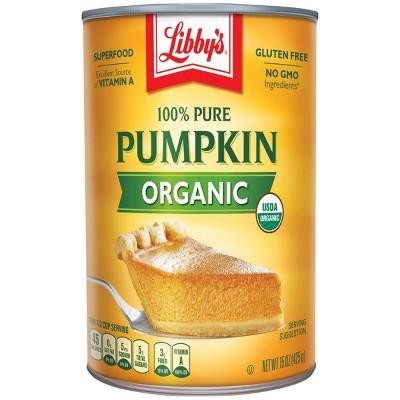 Libby's Organic Pumpkin 15oz