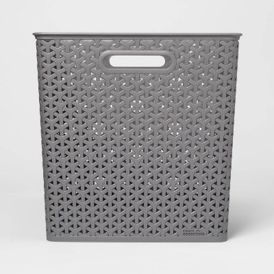 "13"" Y Weave Bin Gray - Room Essentials™"