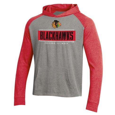 NHL Chicago Blackhawks Men's Faceoff Gray/Lightweight Hoodie - image 1 of 2
