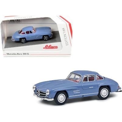 Mercedes Benz 300 SL Blue with Red Interior 1/64 Diecast Model Car by Schuco