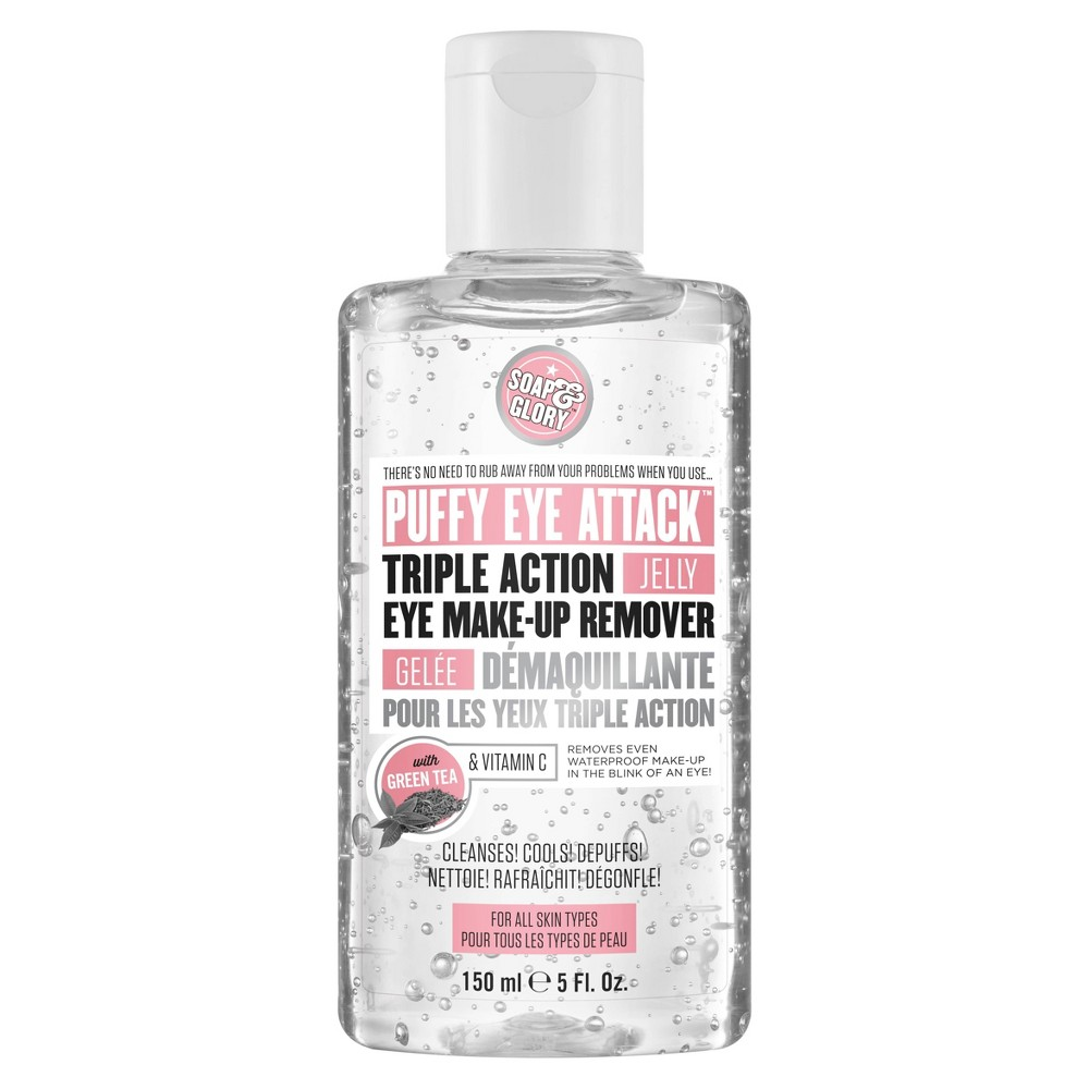 Image of Soap & Glory Puffy Eye Attack Triple Action Jelly Eye Makeup Remover - 5 fl oz