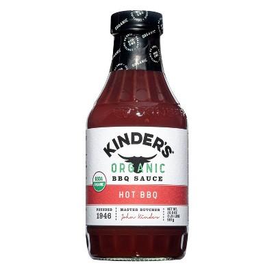 Kinder's Organic Hot BBQ Sauce - 20.5oz
