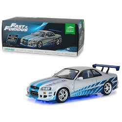 "Brian's 1999 Nissan Skyline GT-R (BNR34) w/Working Led Ground Effects ""Fast & Furious"" (2003) 1/18 Diecast by Greenlight"