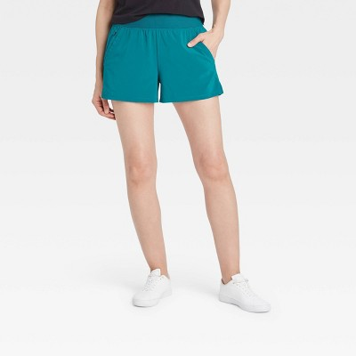 Women's Knit Waist High-Rise Stretch Woven Shorts - All in Motion™