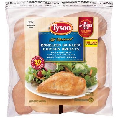 Tyson Boneless & Skinless Chicken Breasts - Frozen - 2.5lbs