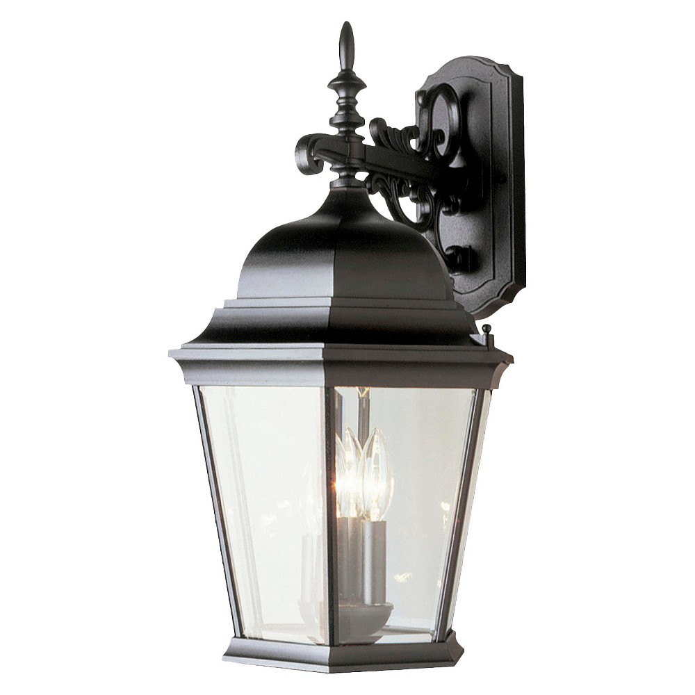"""Image of """"Colonial 23"""""""" Wall Sconce Outdoor Lantern In Black"""""""
