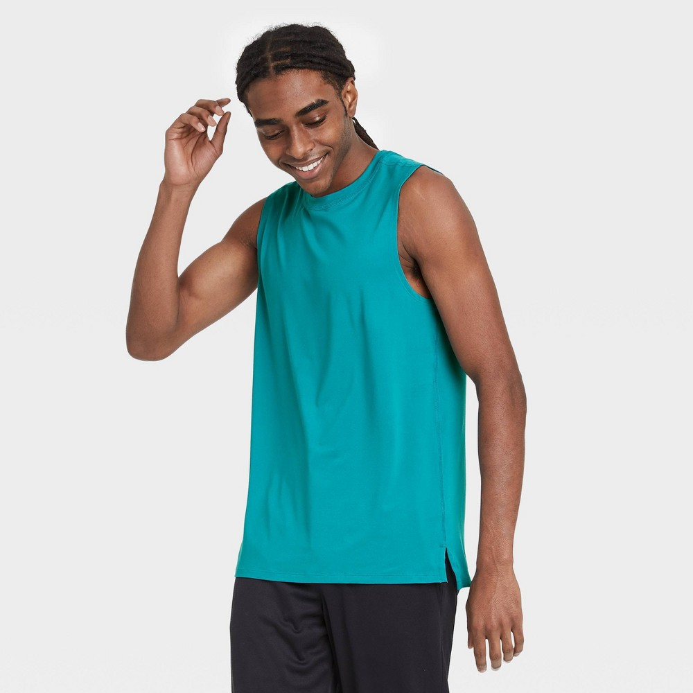 Men 39 S Sleeveless Performance T Shirt All In Motion 8482 Turquoise L