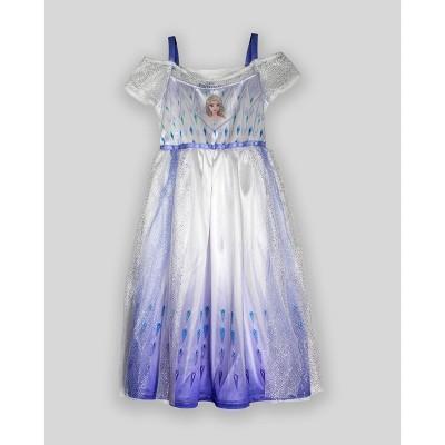 Toddler Girls' Elsa Fantasy Nightgown - White