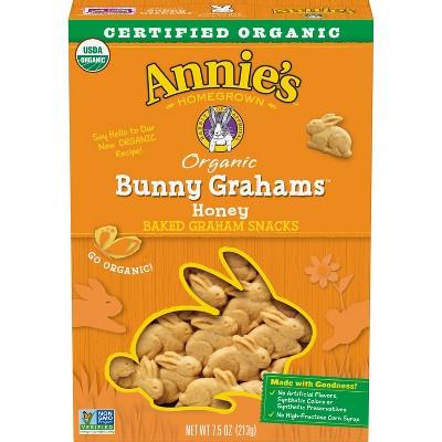 Annie's Organic Bunny Grahams Honey Baked Snacks - 7.5oz