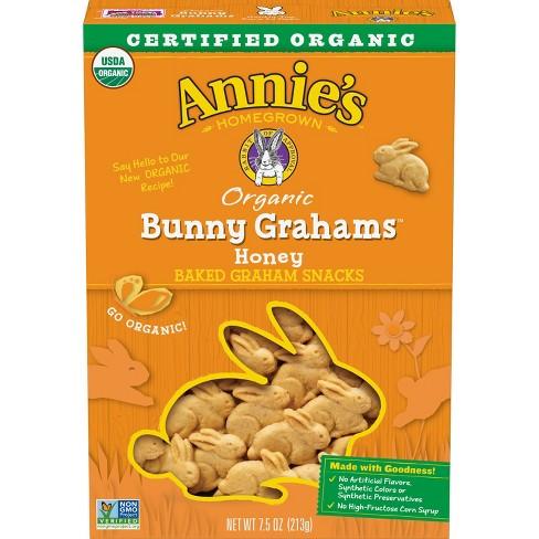 Annie's Organic Bunny Grahams Honey Baked Snacks - 7.5oz - image 1 of 3