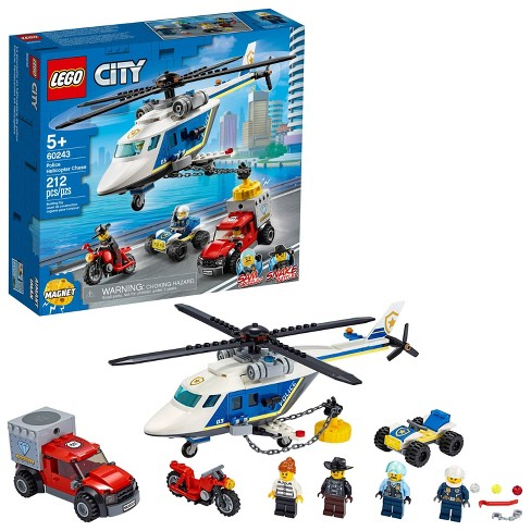 Lego City Police Helicopter Chase Building Sets For Kids 60243 Target