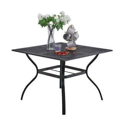 "37""x37"" Square Dining Table - Black - Captiva Designs"