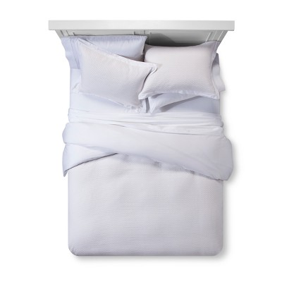 White Matelasse Duvet Cover Set (King)- Fieldcrest®