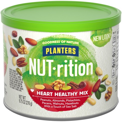 Planters NUTrition Healthy Mix - 9.75oz : Target on planters mixed nuts tin, planters salted mixed nuts, planters mixed nuts ingredients, planters roasted mixed nuts,
