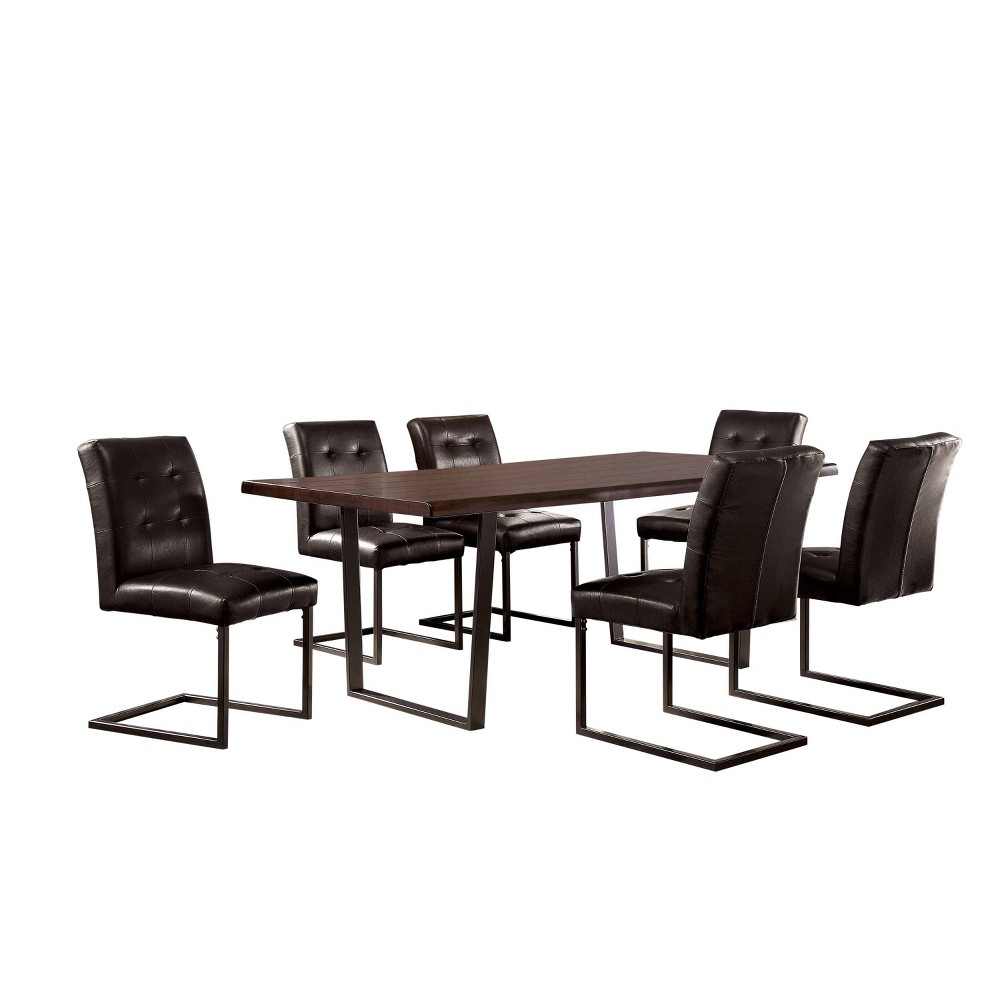 Coupons 7pc Telford Dining Set Dark Oak - HOMES: Inside + Out