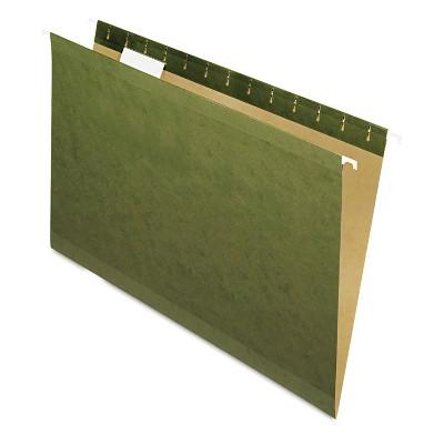 Pendaflex X-Ray Hanging File Folders 1/5 Tab Legal Standard Green 25/Box 415315