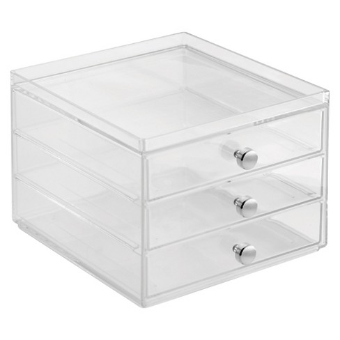 Three Drawer Slim Clarity Organizer Clear - iDESIGN - image 1 of 1
