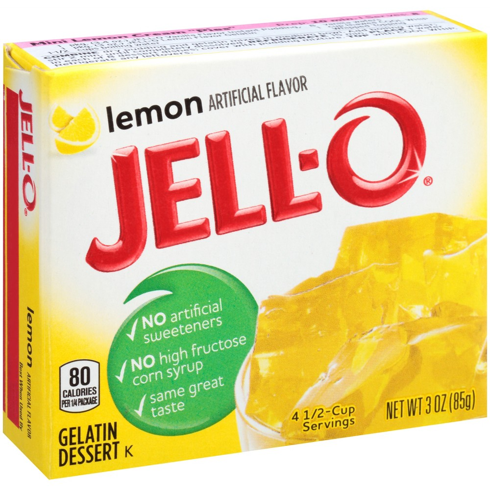 Jell-O Lemon Gelatin - 3oz