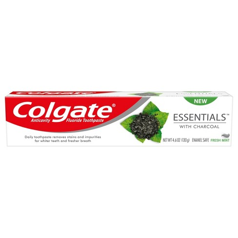 Colgate Teeth Whitening Charcoal Toothpaste Natural Mint Flavor