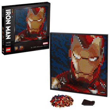 LEGO Art Marvel Studios Iron Man Canvas Art Set Building Kit for Adults 31199