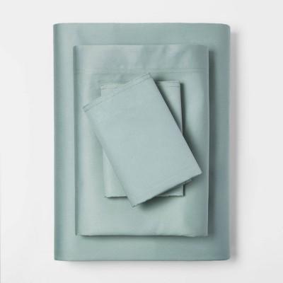 Queen 300 Thread Count Modern Solid Sheet Set Green - Project 62™ + Nate Berkus™