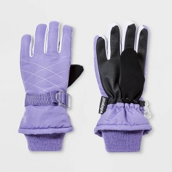 Girls' Solid Promo SKI Gloves - C9 Champion® Purple