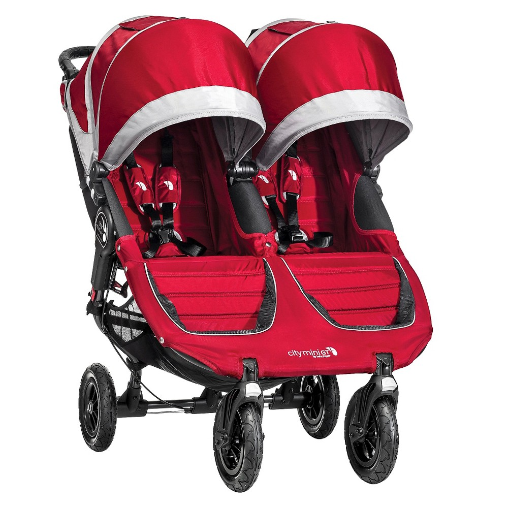 Baby Jogger City Mini GT Double - Crimson (Red)/Gray