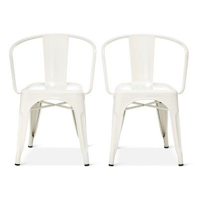 Carlisle Metal Dining Chair - White (Set of 2)
