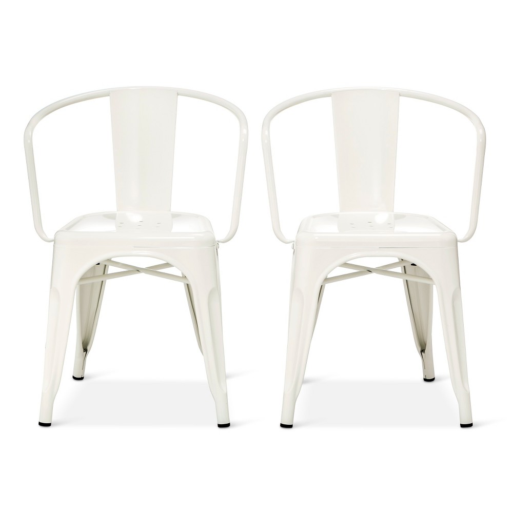 Swell Carlisle Metal Dining Chair White Set Of 2 Bralicious Painted Fabric Chair Ideas Braliciousco