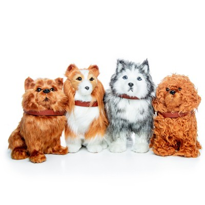 The Queen's Treasures Set of 4 Puppy Dog Pets For Use With 18 Inch Dolls
