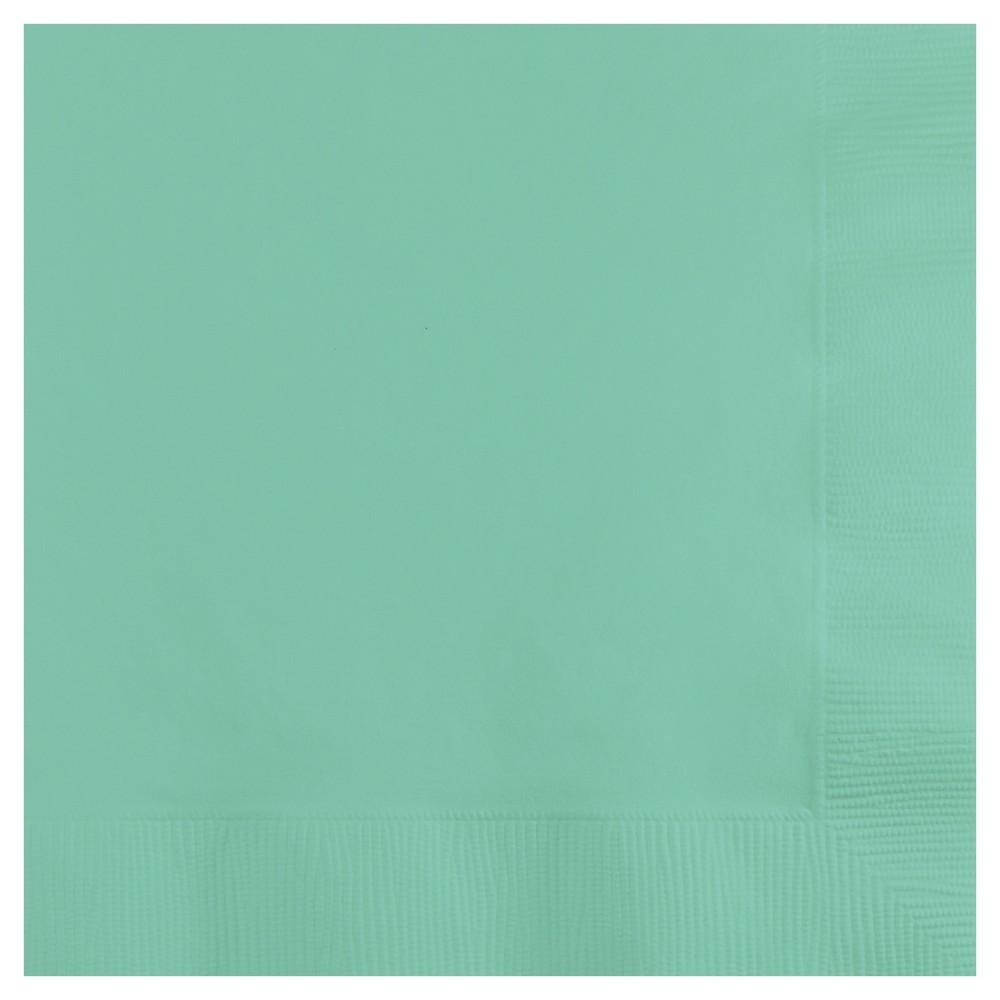 Image of 50ct Fresh Mint Green Cocktail Beverage Napkins