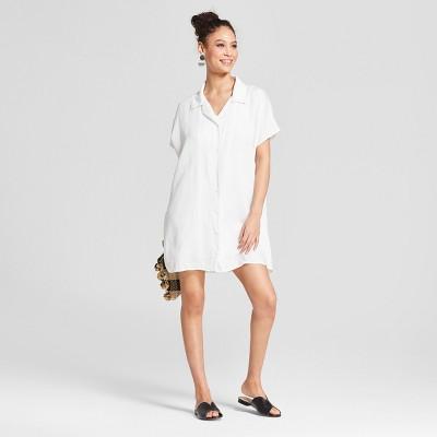 Short Sleeve White Dress