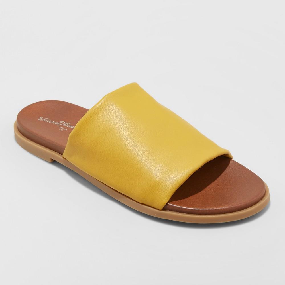 Women's Gigi Hooded Slide Sandals - Universal Thread Mustard (Yellow) 7