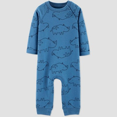 Baby Boys' Rhino Romper - Just One You® made by carter's Blue 3M