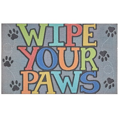 "1'6""x2'6"" Paw Stitch Doorscapes Mat Gray - Mohawk"
