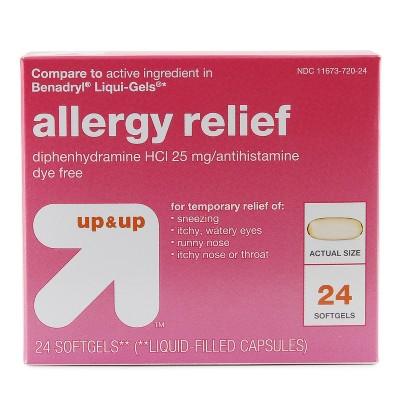 Benadryl allergy liquid gel