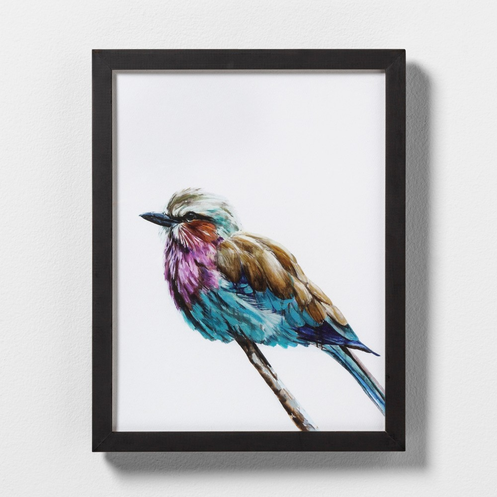 "Image of ""11"""" X 14"""" Colorful Bird Wall Art with Black Wood Frame - Hearth & Hand with Magnolia"""
