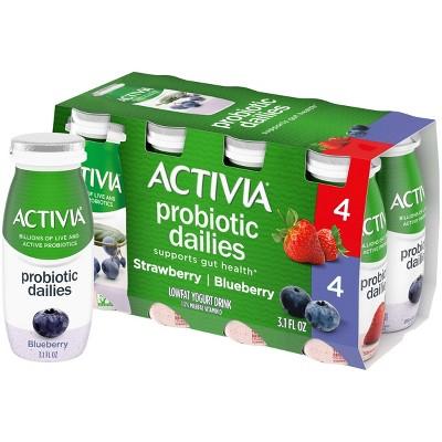 Activia Dailies Strawberry & Blueberry Probiotic Yogurt - 3.1 fl oz/8ct