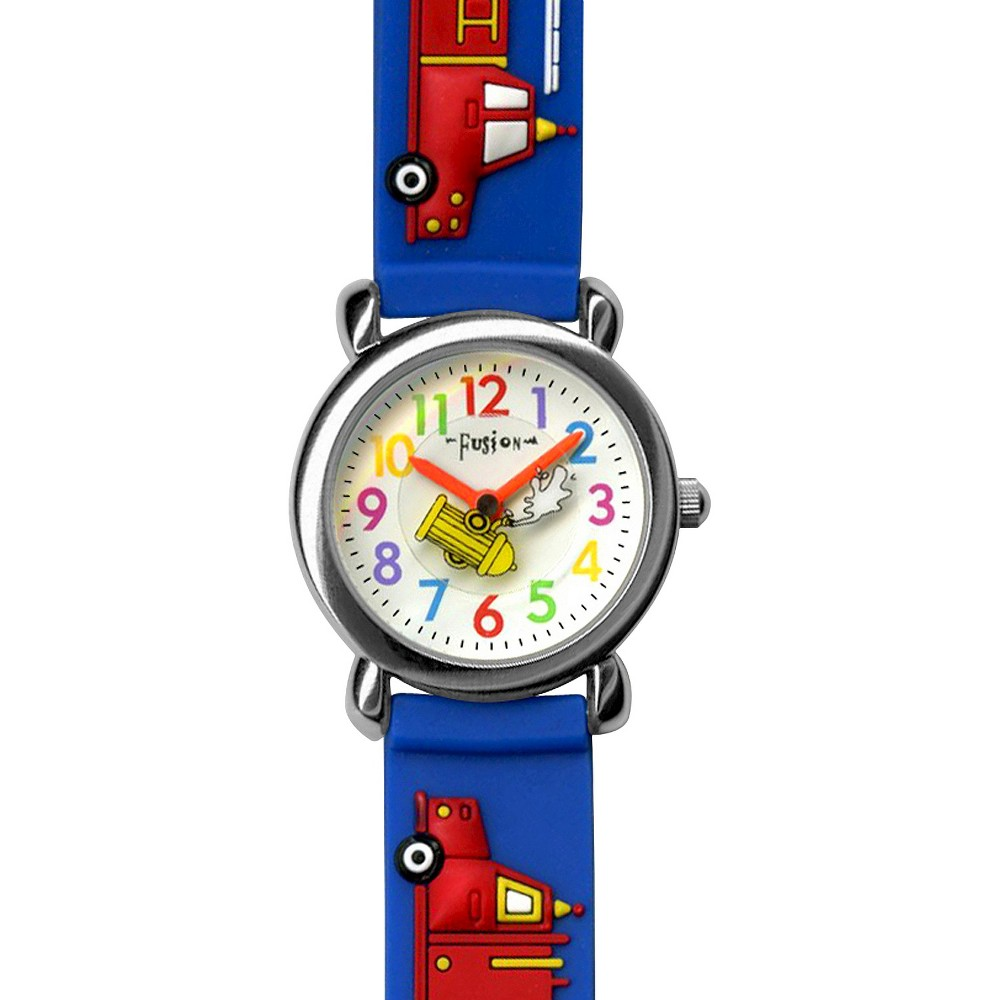 Image of Boys' Fusion Firetruck Watch - Blue, Boy's, Red Blue