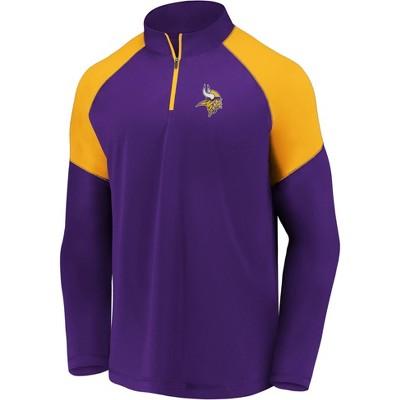 NFL Minnesota Vikings Men's Long Sleeve 1/4 Zip T-Shirt